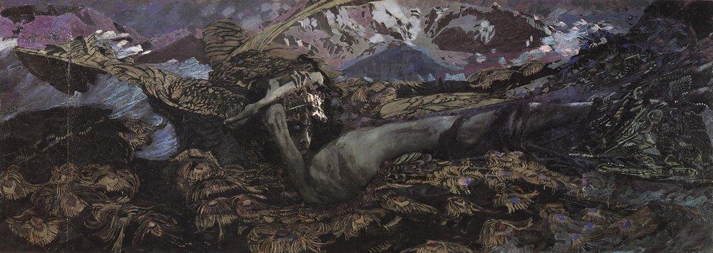 Демон поверженный Врумбель